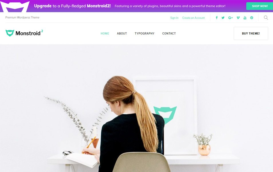 Monstroid2 Lite Responsive WordPress Theme