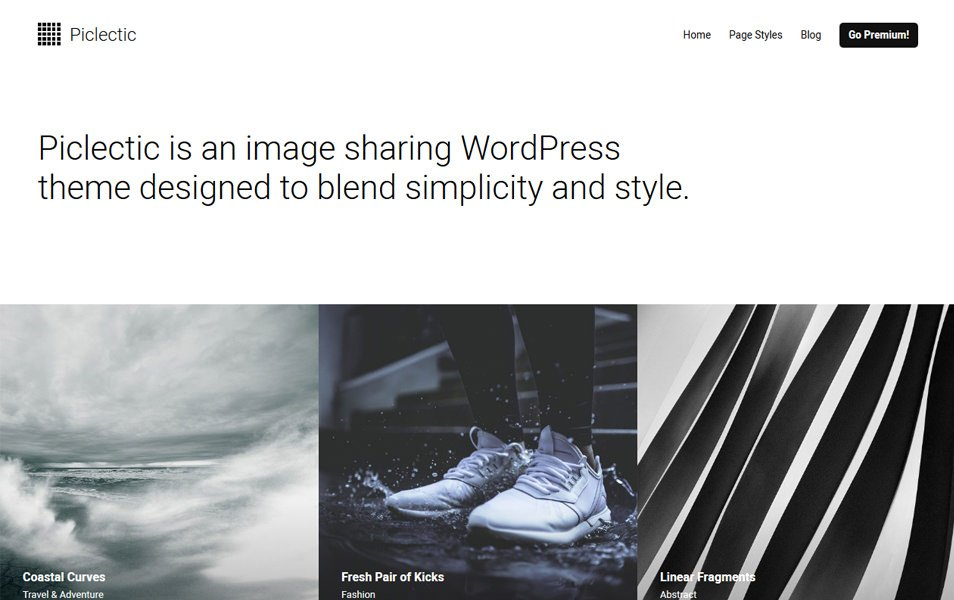 Piclectic Responsive WordPress Theme
