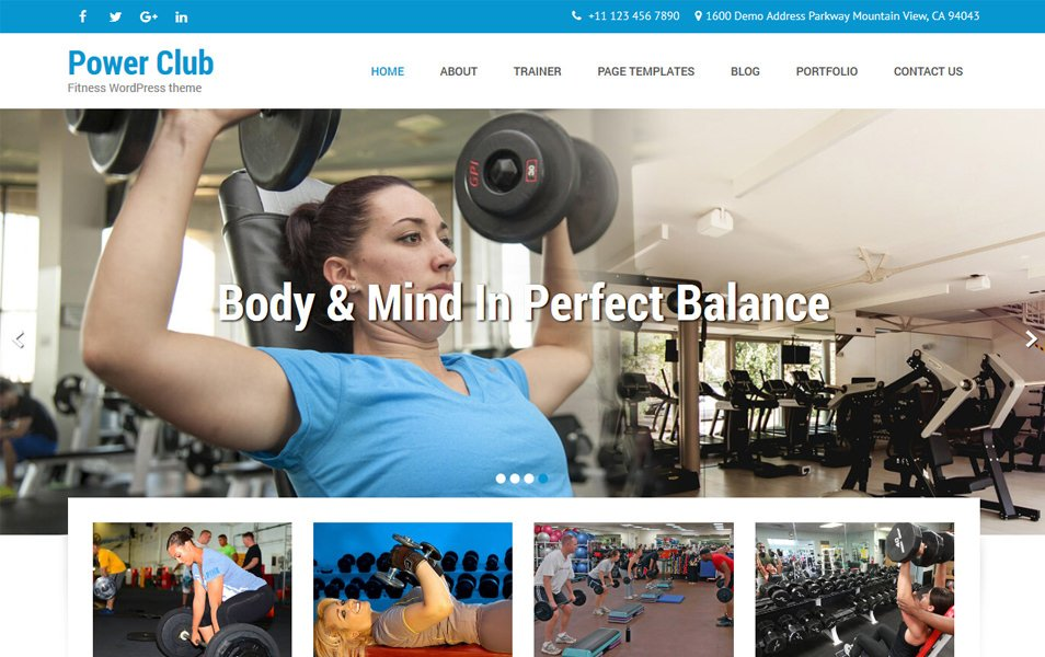 Powerclub Lite Responsive WordPress Theme