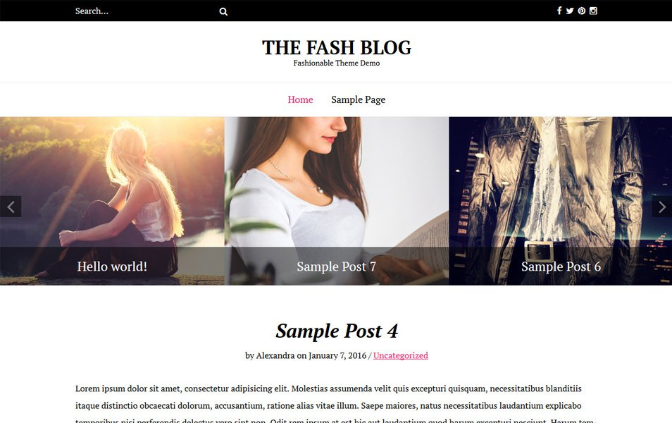 The Fash Blog Responsive WordPress Theme