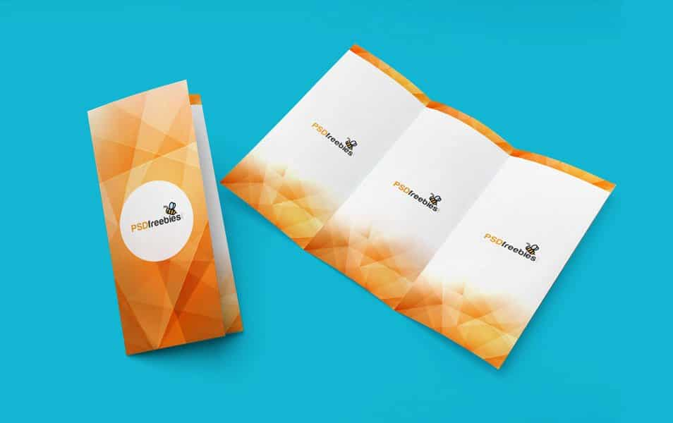 TriFold Brochure Mockup PSD Template