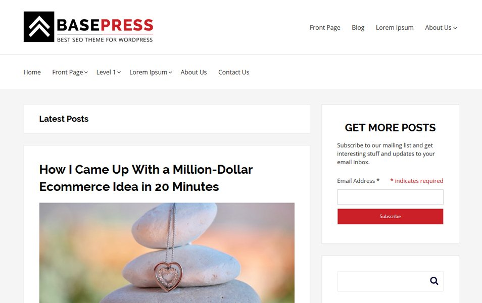 BasePress Responsive WordPress Theme
