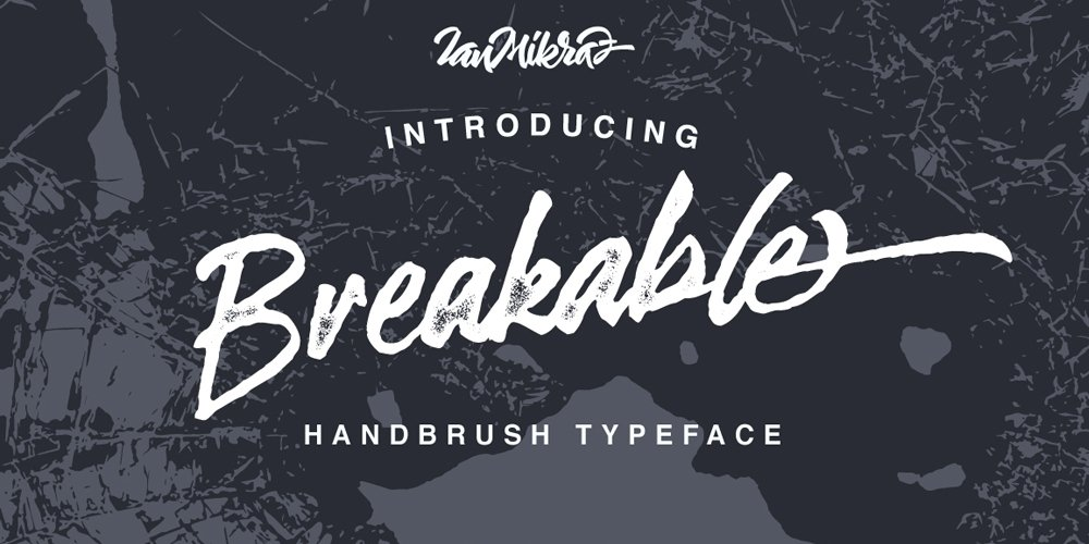 Breakable Typeface
