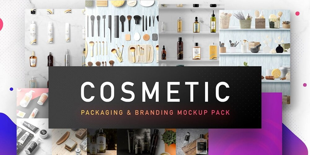 Cosmetic Packaging and Branding Mockups
