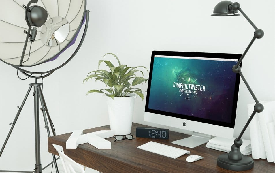 Day and Night Workspace Mockup