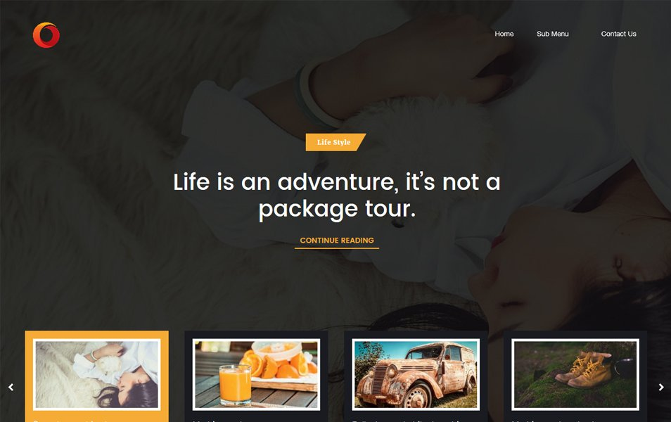 Dot Blog Responsive WordPress Theme