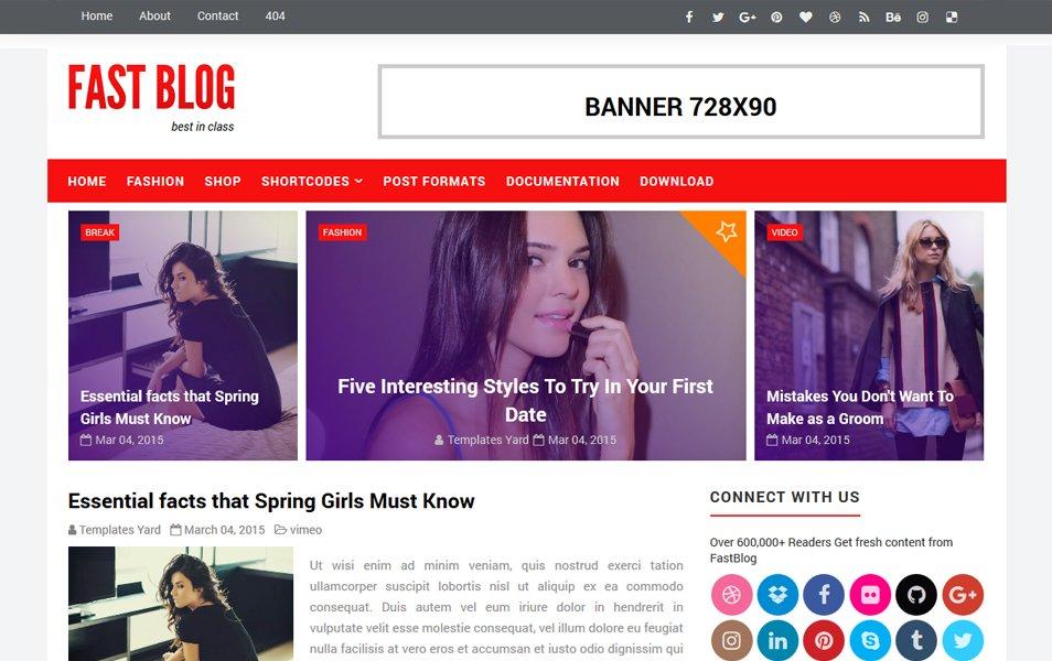 Fastblog Responsive Blogger Template