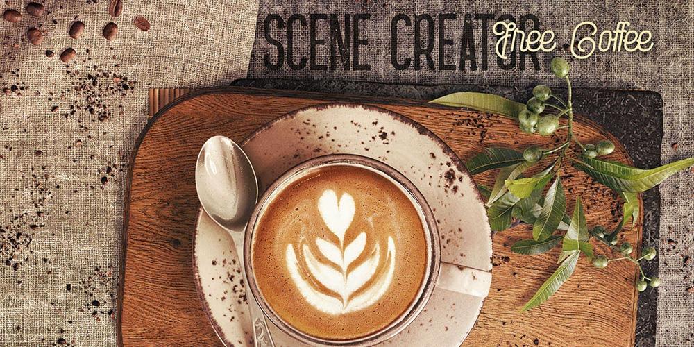رایگان قهوه خالق صحنه PSD