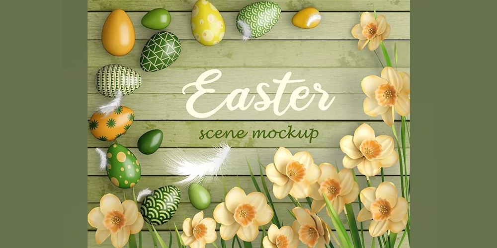 Free Easter Scene Templates PSD