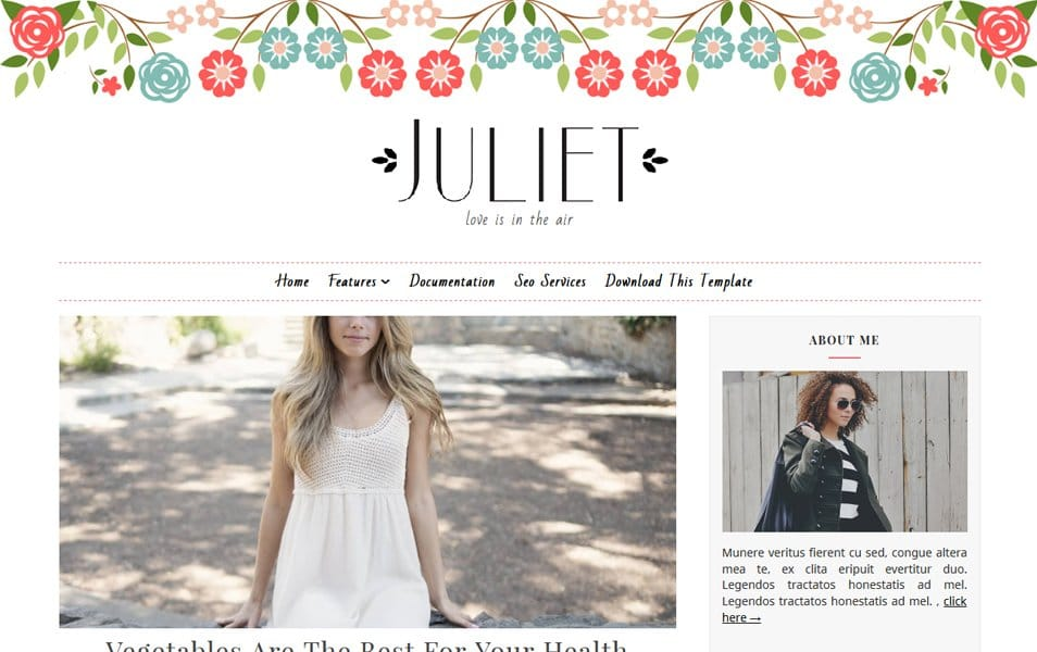 Juliet Responsive Blogger Template