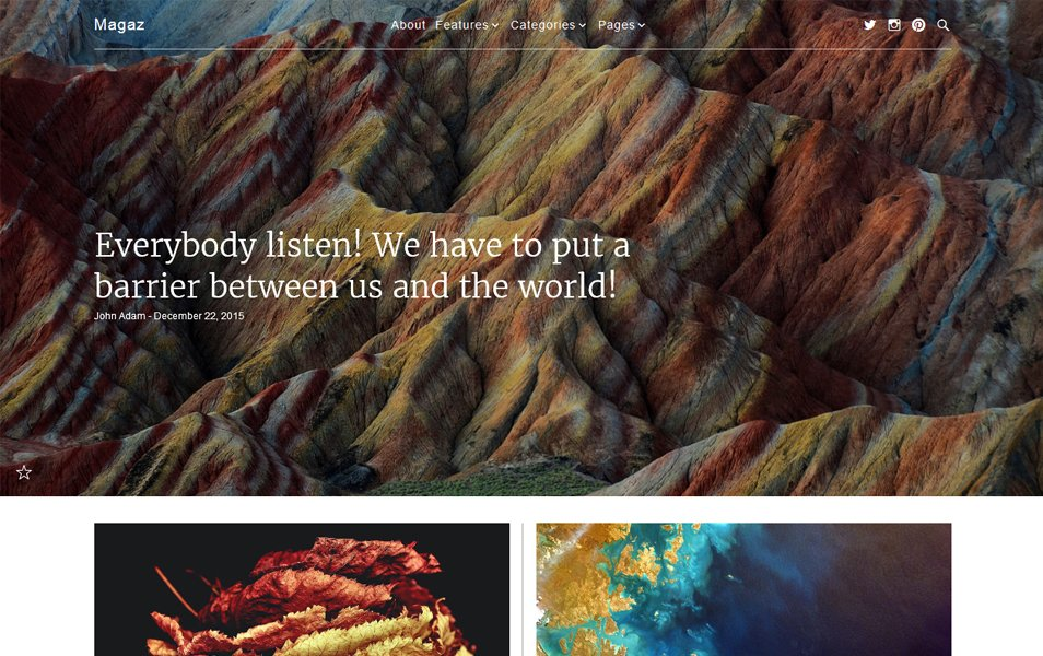 Magaz Responsive WordPress Theme