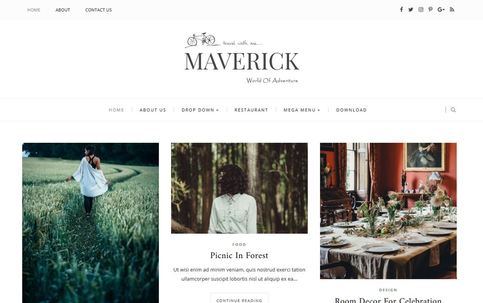 Template Blogger Maverick Responsif