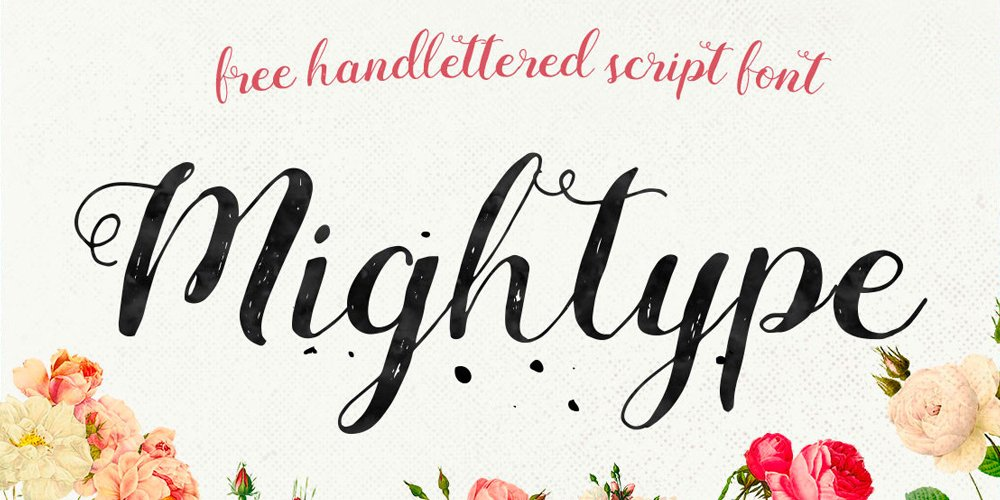 Mightype Handlettered Font