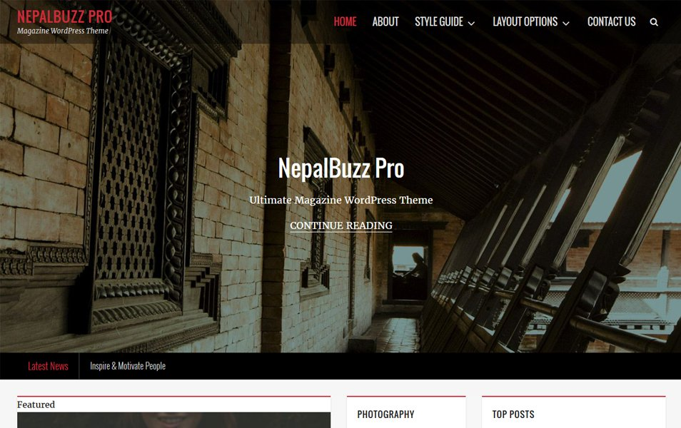 NepalBuzz Responsive WordPress Theme