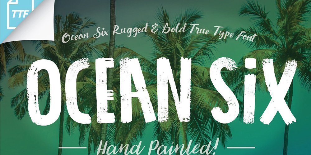 Ocean-Six-Brush-Font