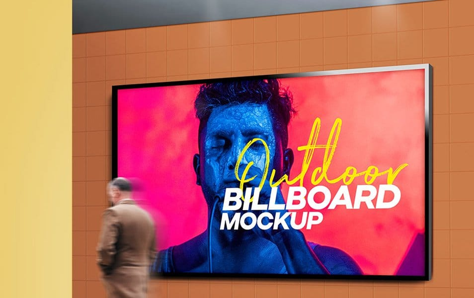 Outdoor Billboard Mockup PSD