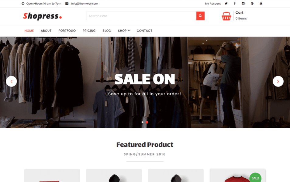 Shopress Responsive WordPress Theme