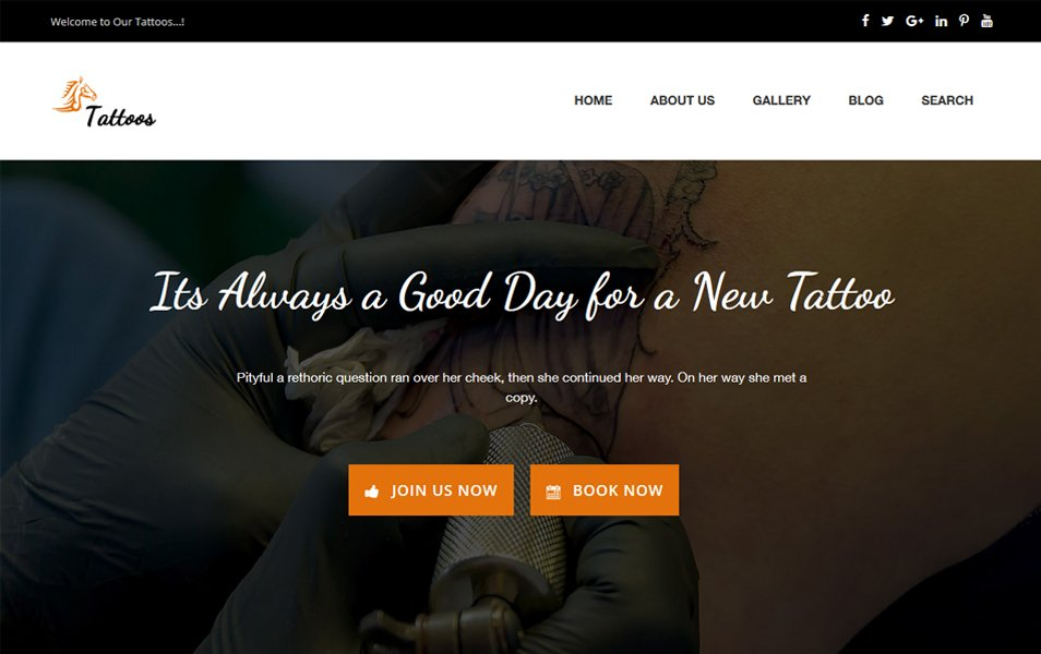 Tattoos Responsive WordPress Theme