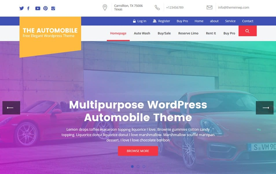 The Automobile Responsive WordPress Theme