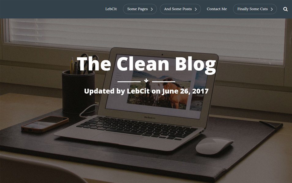 The Clean Blog Responsive WordPress Theme