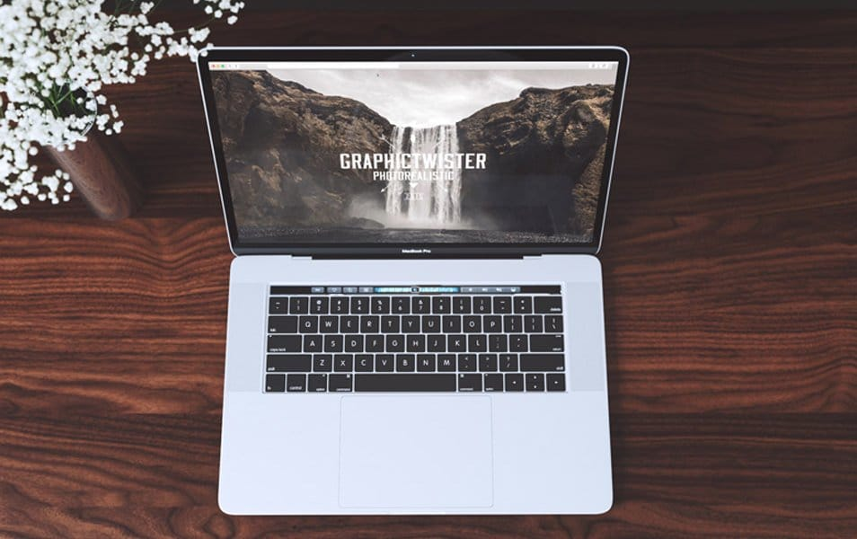 Top View MacBook Mockup
