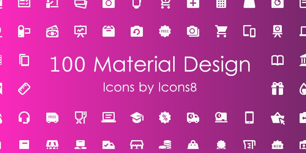100 Material Icons