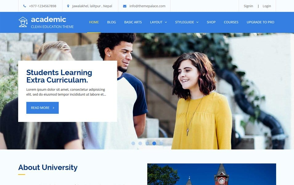 Academic Responsive WordPress Theme