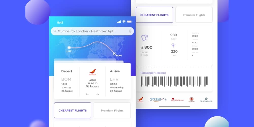 Airplane Ticket IOS App