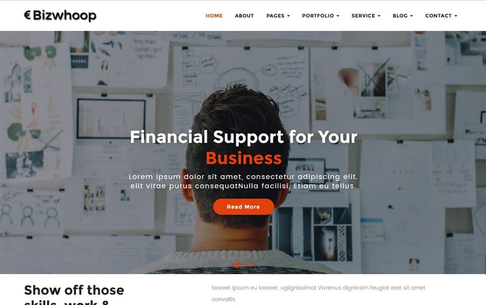 Bizwhoop Responsive WordPress Theme