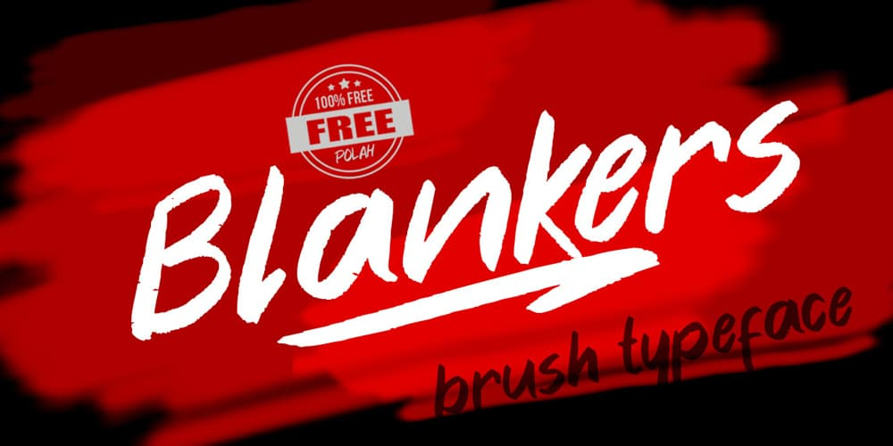 Blanker Brush Typeface