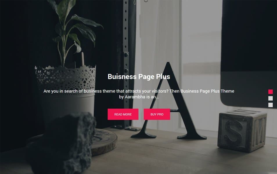 Business Page Responsive WordPress Theme