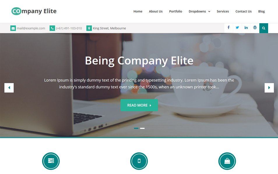 Company Elite Responsive WordPress Theme