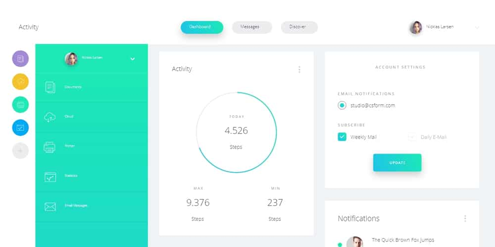 Datta Dashboard UI Kit for Adobe XD