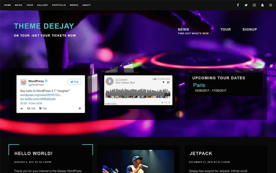 Deejay Responsive WordPress Theme