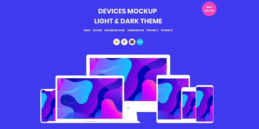 Devices Mockup Vector