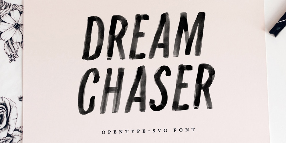 Dream Chaser SVG Font