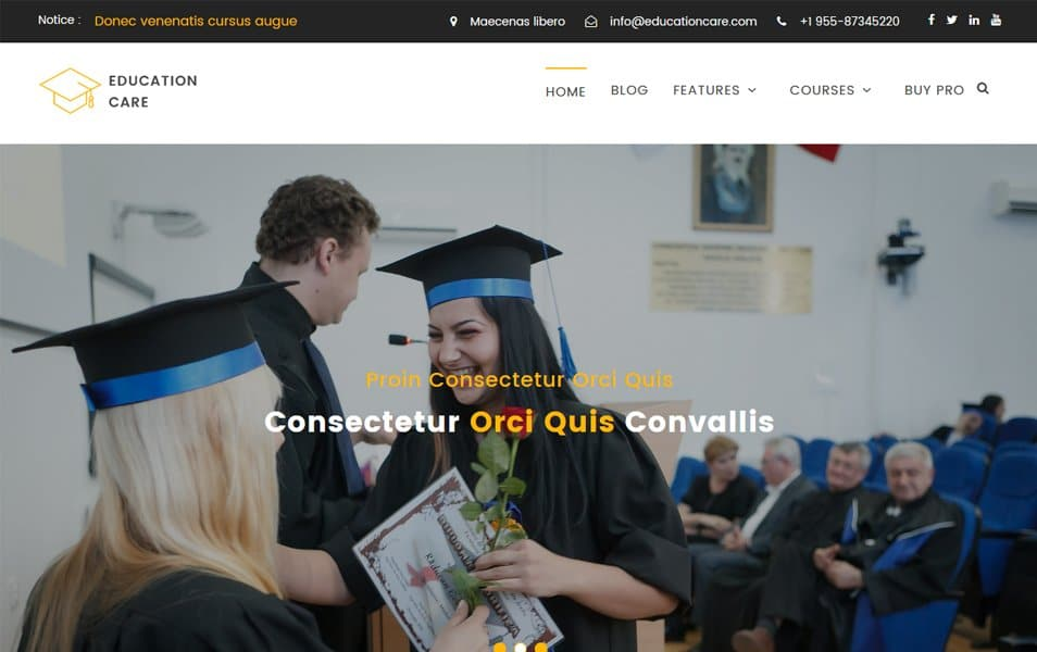 Education Care Responsive WordPress Theme