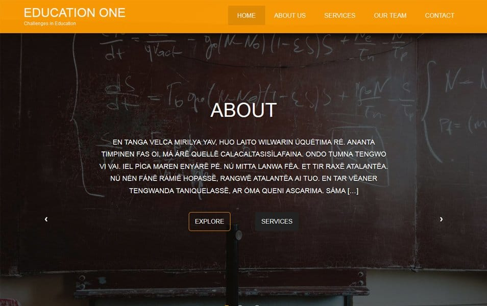 Education One Responsive WordPress Theme
