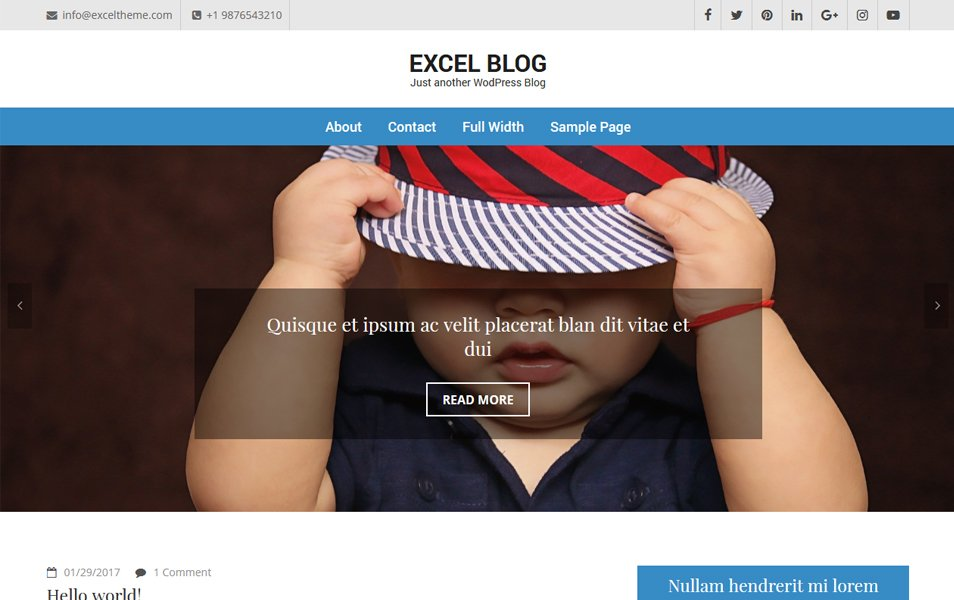 Excel Blog Responsive WordPress Theme