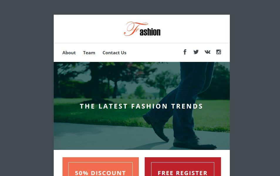 Fashion a Newsletter Template