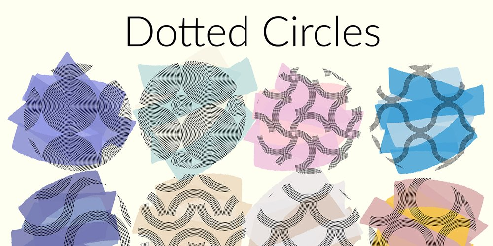 Free Dotted Circles Patterns