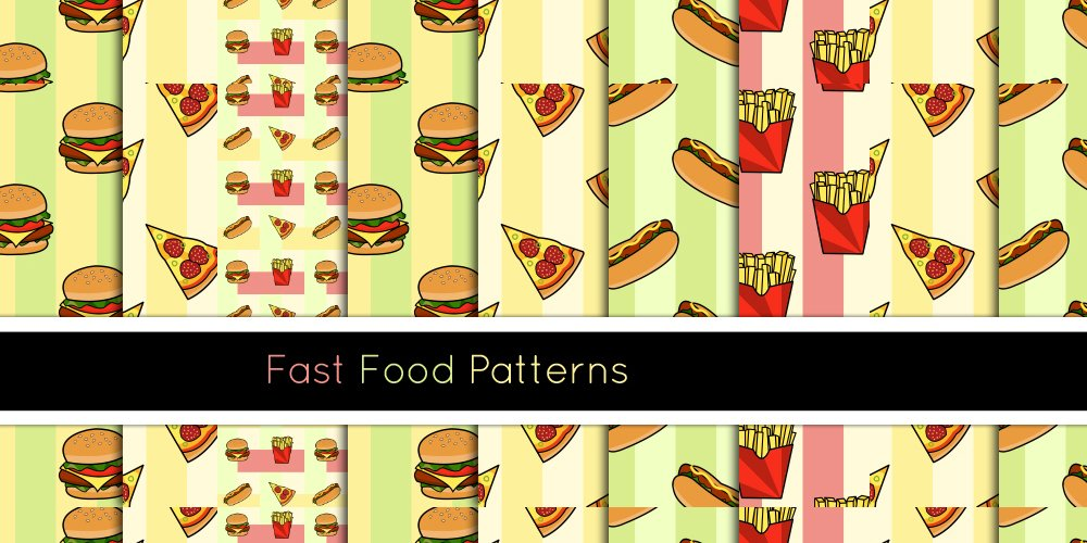Free Fast Food Patterns