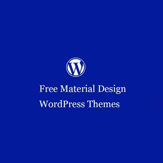 Free Material Design WordPress Themes 2021