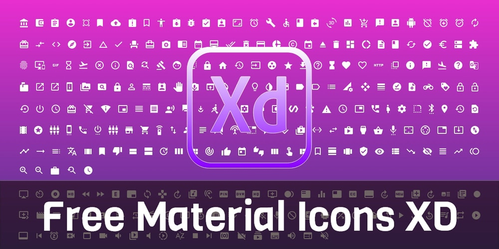 Free Material Icons for Adobe XD