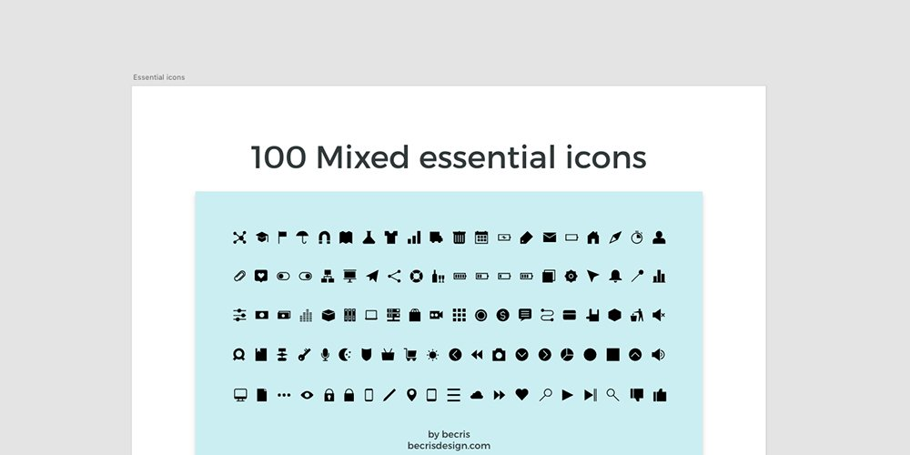 Free Mixed Essential Icons