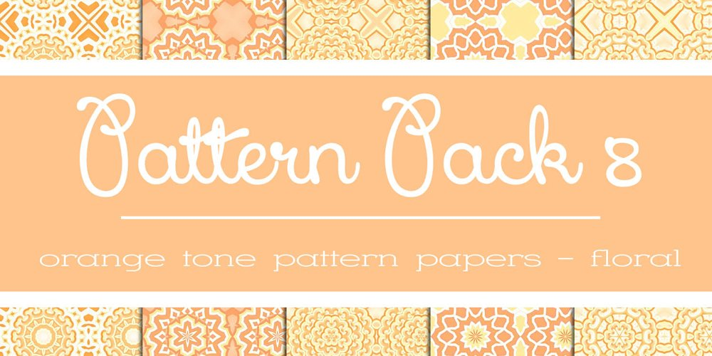Free Orange Floral Patterns