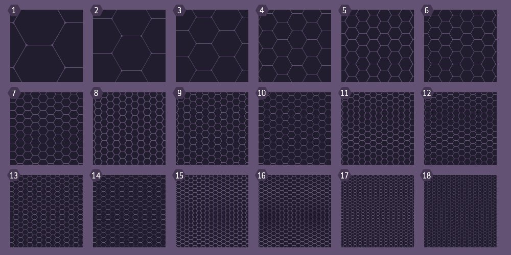 Free Photoshop Hexagonal Patterns