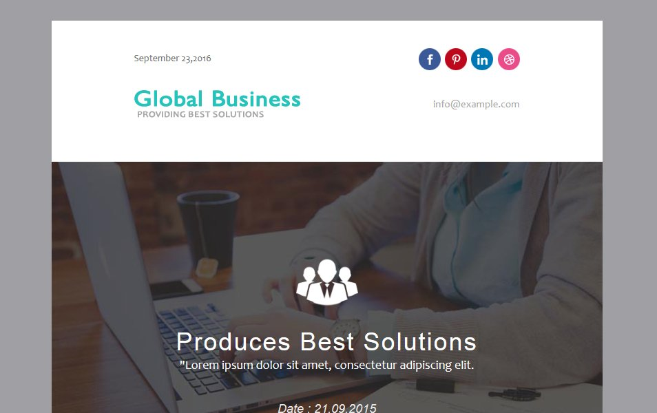 Global Business Responsive Web Template