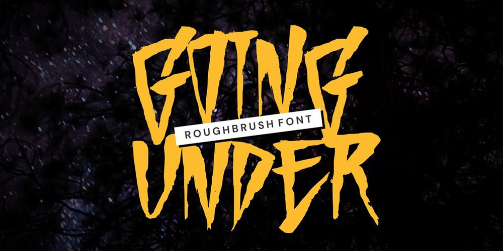 Going Under Brush Font