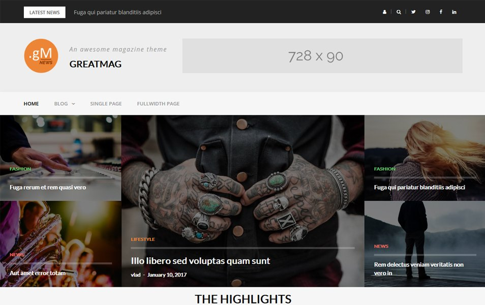 GreatMag Responsive WordPress Theme